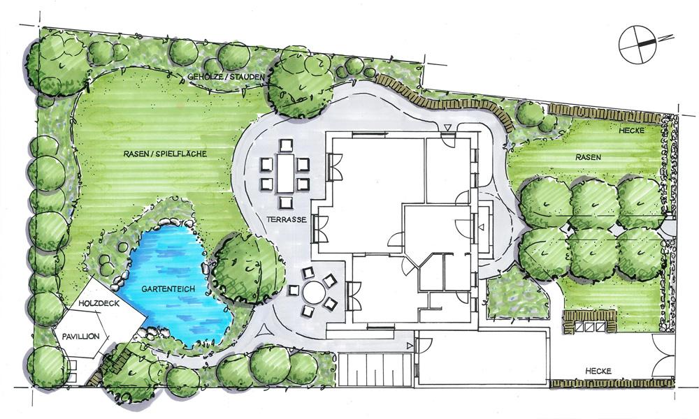 Gartenplanung garten und landschaftsbau in hamburg for Garten anlegen plan